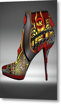 Michael Kors Shoe Illustration No. 2 Metal Print by Kenal Louis