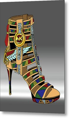 Michael Kors Shoe Illustration No. 3 Metal Print by Kenal Louis