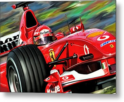 Michael Schumacher Ferrari Metal Print by David Kyte