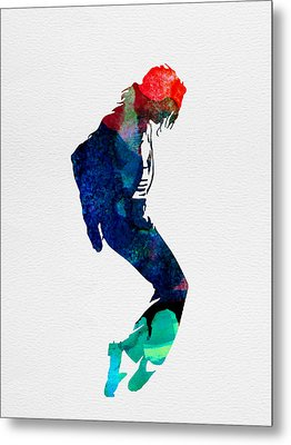 Michael Watercolor Metal Print by Naxart Studio