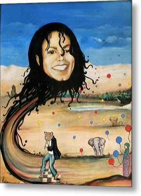 Michael's World Metal Print by Jordana Sands