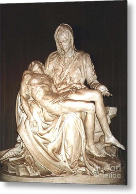 Michelangelo's First Pieta  Metal Print by Merton Allen