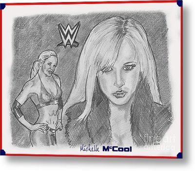 Michelle Mccool Metal Print by Chris  DelVecchio