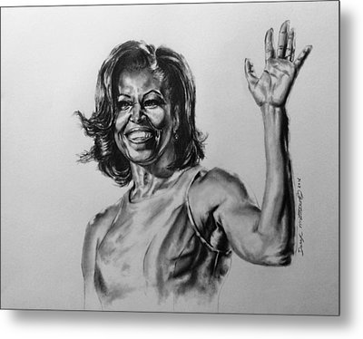 Michelle Obama  Metal Print by Darryl Matthews