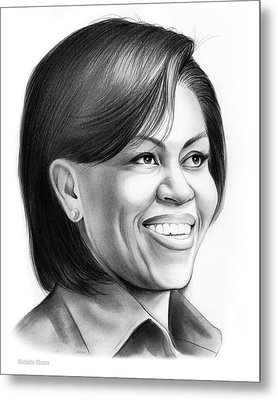 Michelle Obama Metal Print by Greg Joens
