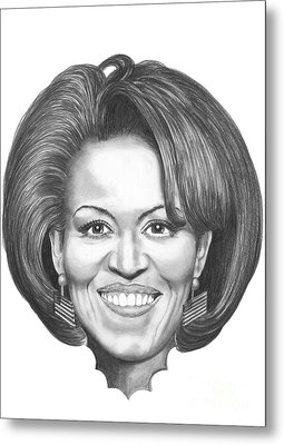 Michelle Obama Metal Print by Murphy Elliott