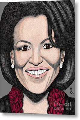 Michelle Obama Metal Print by Richard Heyman