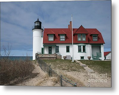 Metal Print featuring the photograph Michigan Lighthouse II by Gina Cormier