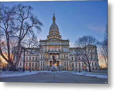 Metal Print featuring the photograph Michigan State Capitol by Nicholas Grunas