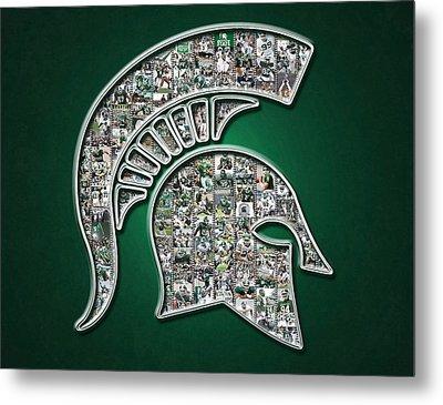 Michigan State Spartans Football Metal Print by Fairchild Art Studio