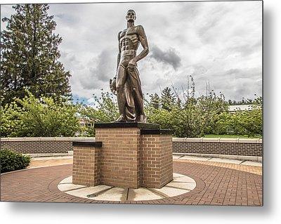 Michigan State - The Spartan Statue Metal Print by John McGraw