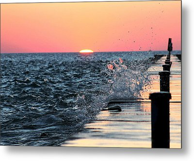 Michigan Summer Sunset Metal Print by Bruce Patrick Smith