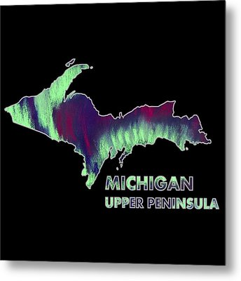 Michigan - Up - Northern Lights - Aurora Hunters Metal Print by Anastasiya Malakhova
