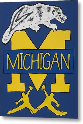 Michigan Wolverines Metal Print by Jonathon Hansen