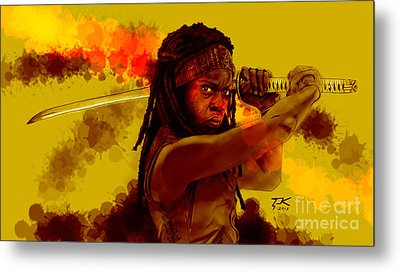 Michonne Metal Print by David Kraig