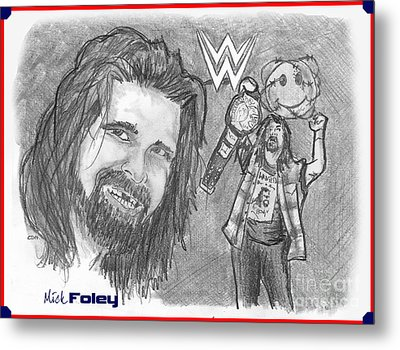 Mick Foley Metal Print by Chris  DelVecchio