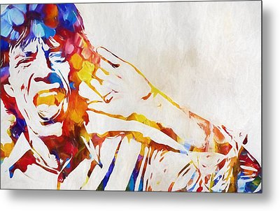 Mick Jagger Abstract Metal Print