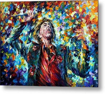 Mick Jagger Metal Print by Leonid Afremov