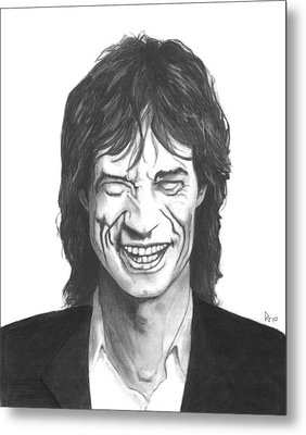 Mick Jagger Metal Print by Russell Griffenberg