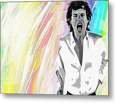 Mick Metal Print by Mary Morawska