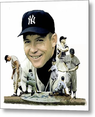 Mickey Mantle Legacy, II  Metal Print by Iconic Images Art Gallery David Pucciarelli