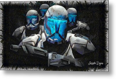 Mickey Mouse Stormtrooper Metal Print