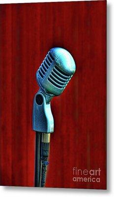 Microphone Metal Print by Jill Battaglia