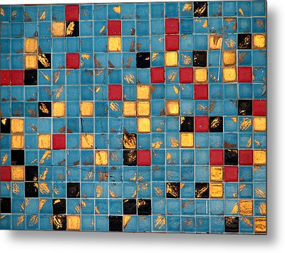 Mid Century Tiles Metal Print by Christopher Woods