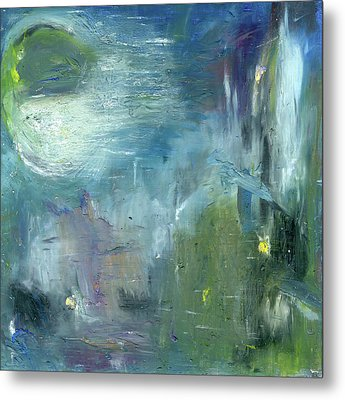 Metal Print featuring the painting Mid-day Reflection by Michal Mitak Mahgerefteh