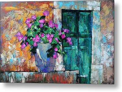 Metal Print featuring the painting Mid Summer by Anastasija Kraineva