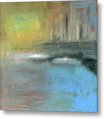 Metal Print featuring the painting Mid-summer Glow by Michal Mitak Mahgerefteh