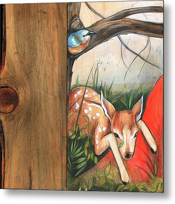 Mid-summers Day Dream 1st Panel Metal Print by Jacque Hudson