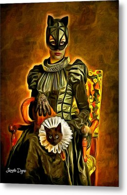 Middle Ages Catwoman Metal Print by Leonardo Digenio