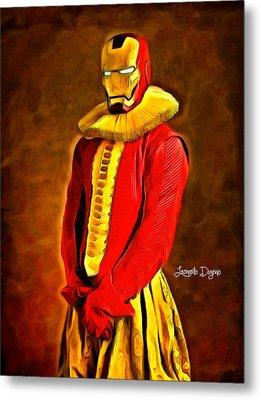 Middle Ages Iron Man - Da Metal Print by Leonardo Digenio