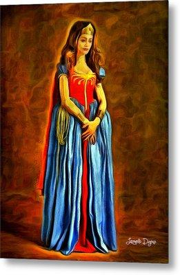 Middle Ages Wonder Woman - Da Metal Print