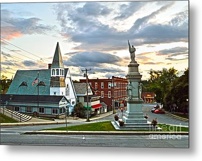 Middlebury Vermont At Sunset Metal Print