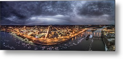 Middletown Connecticut, Twilight Panorama Metal Print by Petr Hejl