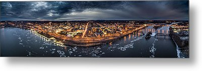 Middletown Ct, Twilight Panorama Metal Print by Petr Hejl