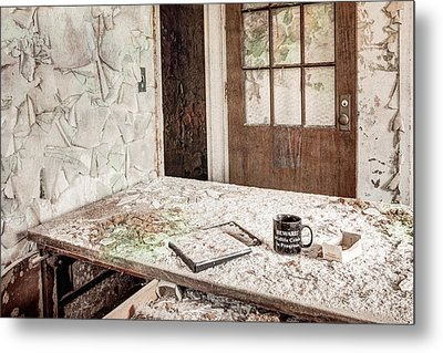Midlife Crisis In Progress - Abandoned Asylum Metal Print by Gary Heller