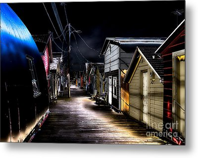 Midnight At The Boathouse Metal Print