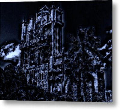 Midnight At The Tower Of Terror Mp Metal Print