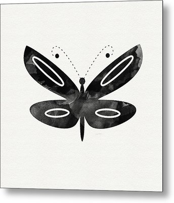 Midnight Butterfly 1- Art By Linda Woods Metal Print