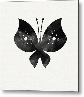 Midnight Butterfly 2- Art By Linda Woods Metal Print