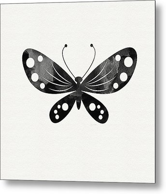 Midnight Butterfly 3- Art By Linda Woods Metal Print