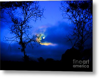 Midnight Clouds Metal Print