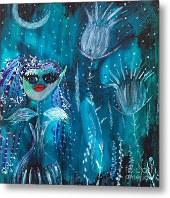 Midnight Fairy Metal Print