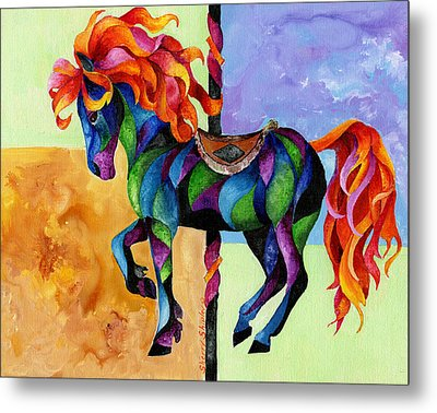 Midnight Fire Metal Print by Sherry Shipley