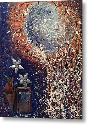 Midnight Flowers Metal Print by Gallery Messina