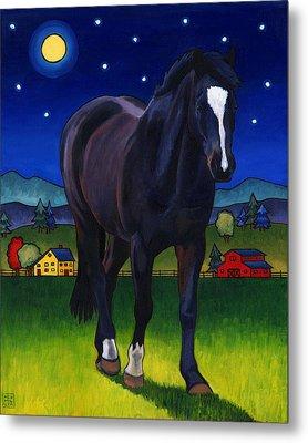 Midnight Horse Metal Print