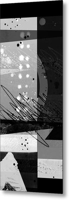 Midnight In The City 1 Triptych Metal Print by Ann Powell